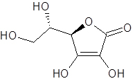 Figure 1:  Ascorbic Acid better known as Vitamin C is an unstable organic molecule that is highly water soluble.